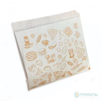 Упаковка из бумаги для фастфуда 180 х 160 мм