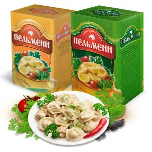 Индивидуальная упаковка для пельменей для пищевой промышленности и розничной торговли.