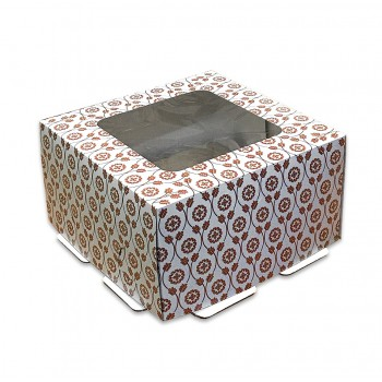 Коробка для торта с окном 1 кг