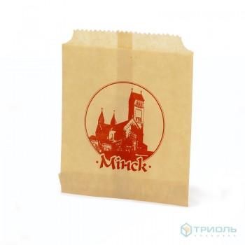 Пакет бумажный с логотипом Минска, 120 х 150 мм
