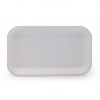 Тарелка прямоугольная картон 220 х 140 мм
