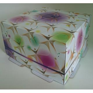 """ЗАО """"ТРИОЛЬ"""" представляет новый легкий и светлый дизайн коробки для торта 1 кг"""