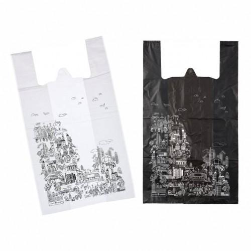 """ЗАО """"Триоль"""" изготовила новую пакет-майку из серии «Город» в черном цвете!"""