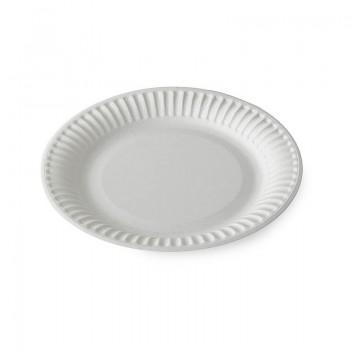 Тарелка картонная D=165 мм, белая, мелованная