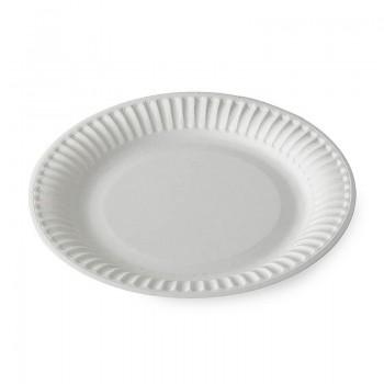 Тарелка бумажная Snack Plate белая мелованная (d=180 мм, d=230 мм)